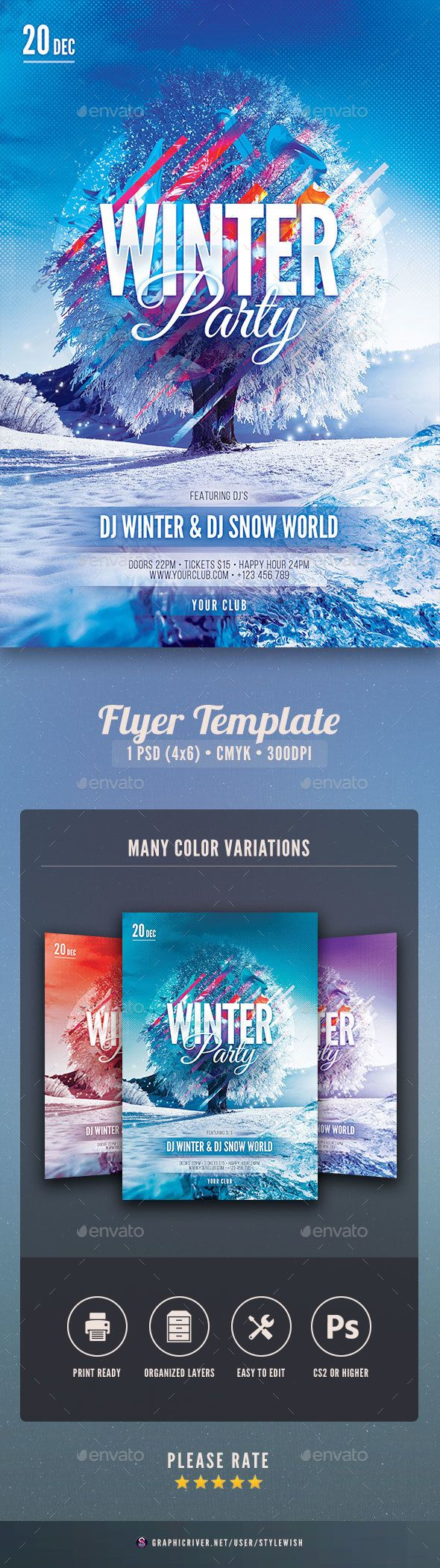 Winter Flyer  Flyer Template