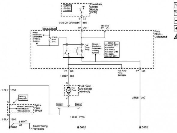 2000 Chevy Silverado Fuel Pump Wiring Diagram Di 2020