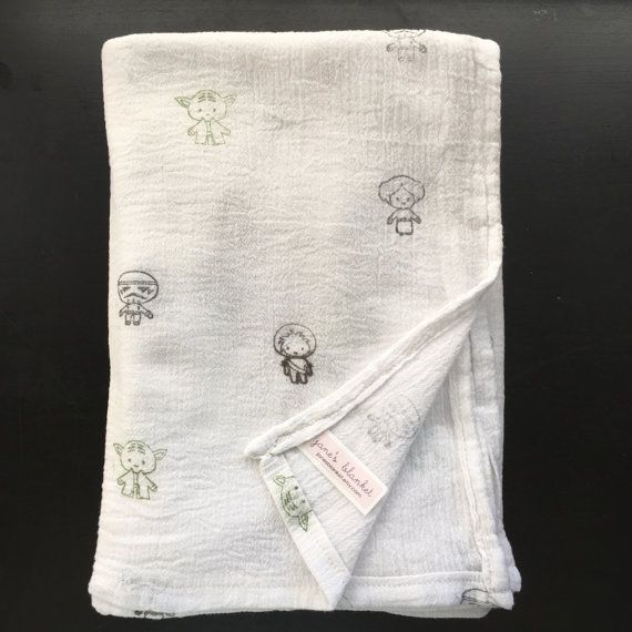 The Perfect Swaddle Blanket For Your Star Wars Fan Made Of 100 Cotton Muslin These Blanket Muslin Baby Blankets Star Wars Baby Blanket Baby Swaddle Blankets