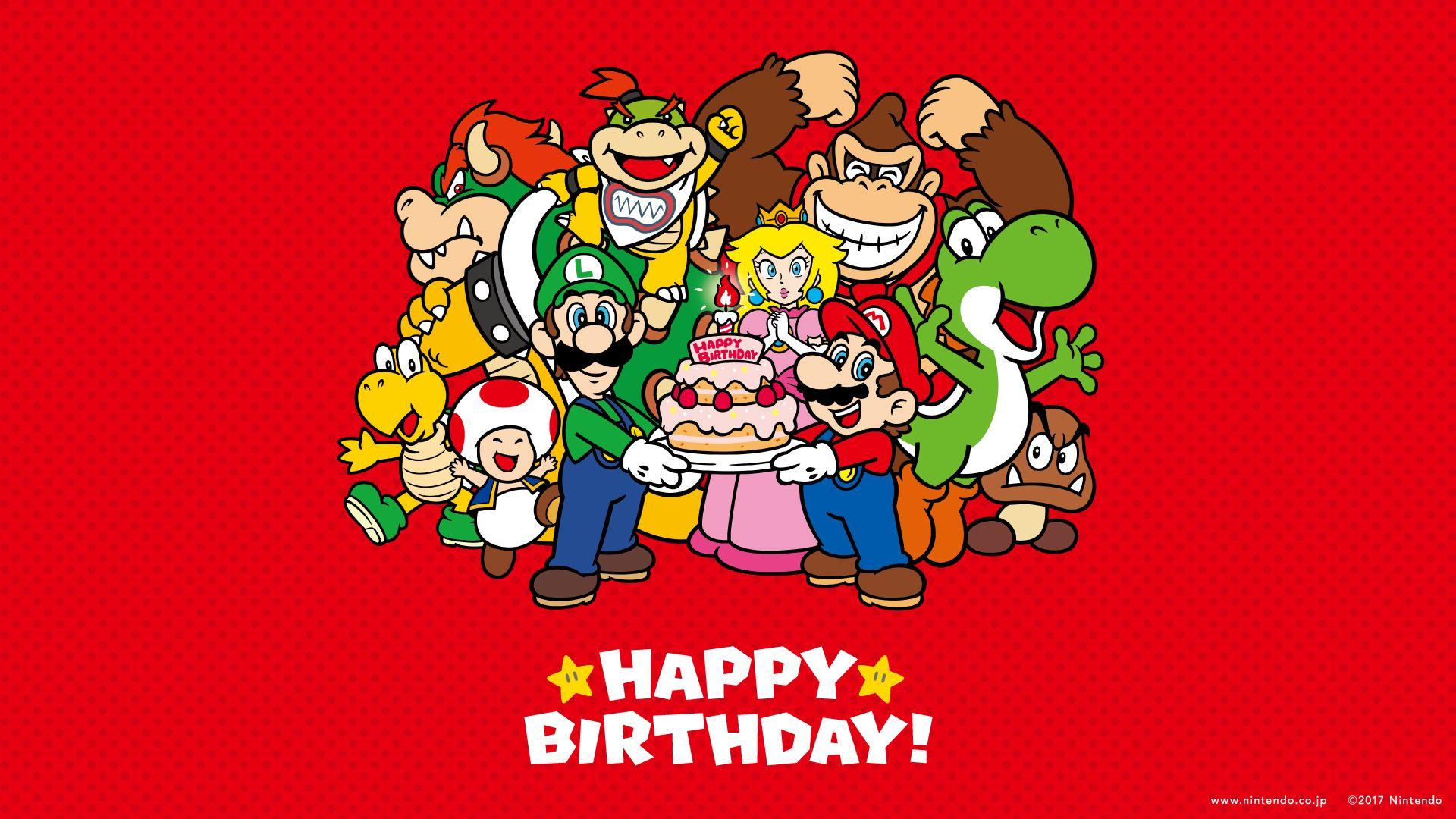 2017 Happy Birthday Mario Wallpaper Photos Fond Ecran Generale