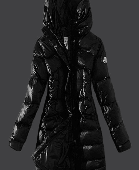Moncler Womens Coats Stand Collar Windproof Black #moncler #womanjacket # black #coat WhatsApp