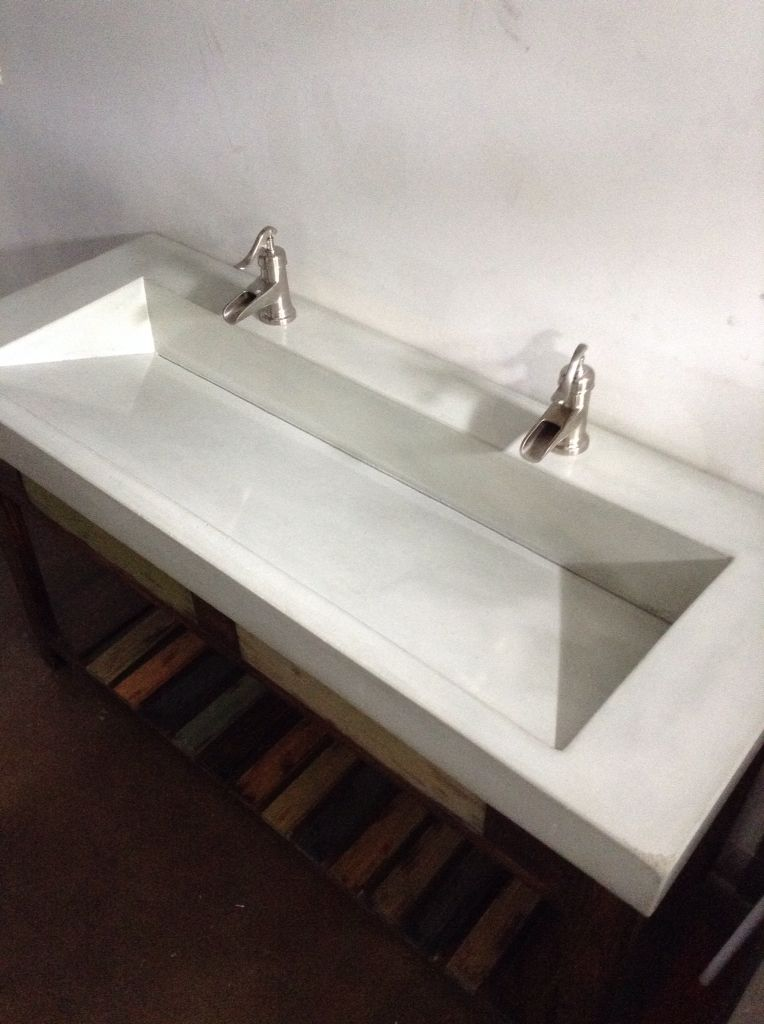 Bathroom Vanity, Concrete Vanity, Double Concrete Ramp Sink, Concrete  Counter Www.decocretestudios