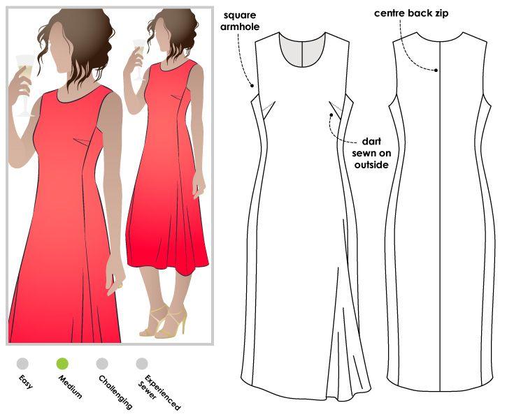 Agnes Designer Dress | Sewing | Pinterest | Costura, Vestidos and Moda