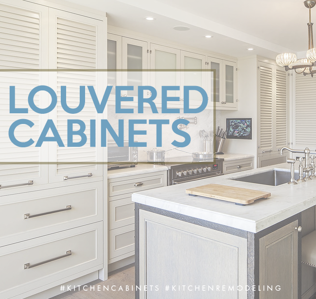 Louvered kitchen cabinet doors not only can provide ventilation to ...