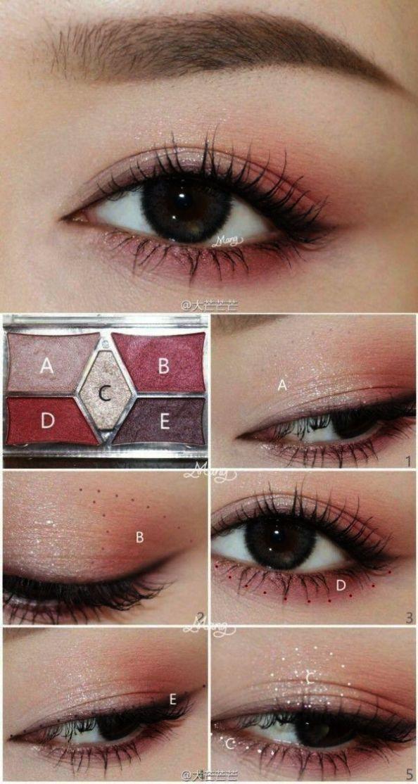 Beste Abend Augen Makeup für braune Augen durch Smokey