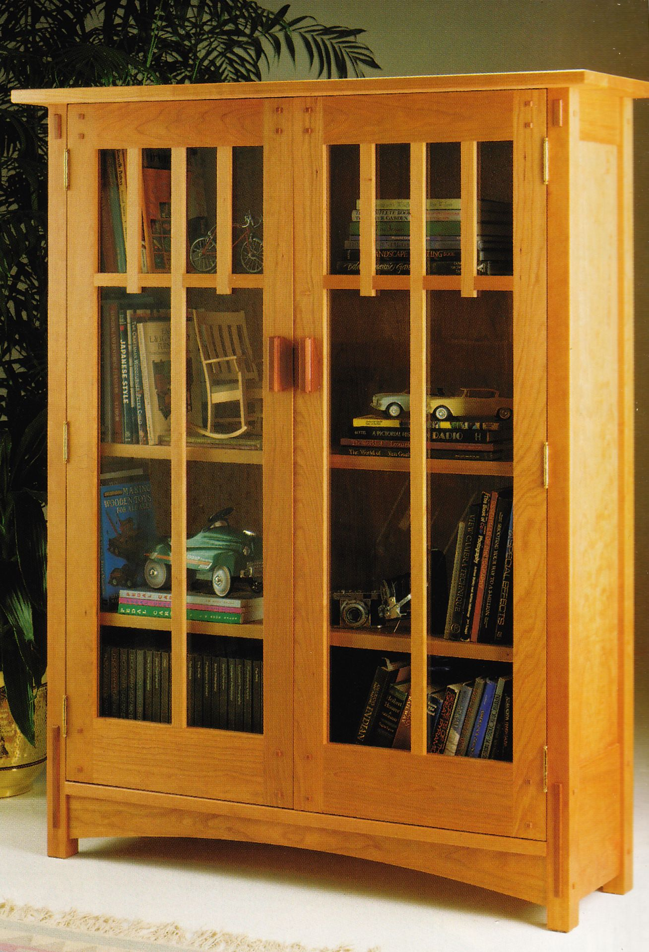 Mission bookcase from woodsmith custom woodworking 39 s for Craftsman cabinet plans