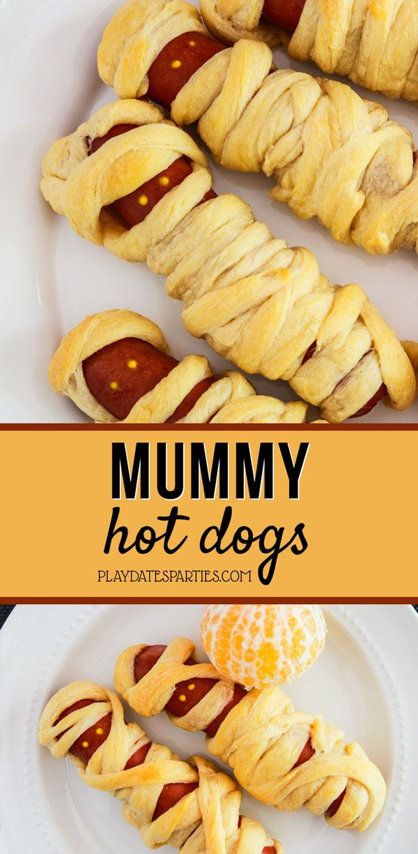 Easy Mummy Dogs for Halloween