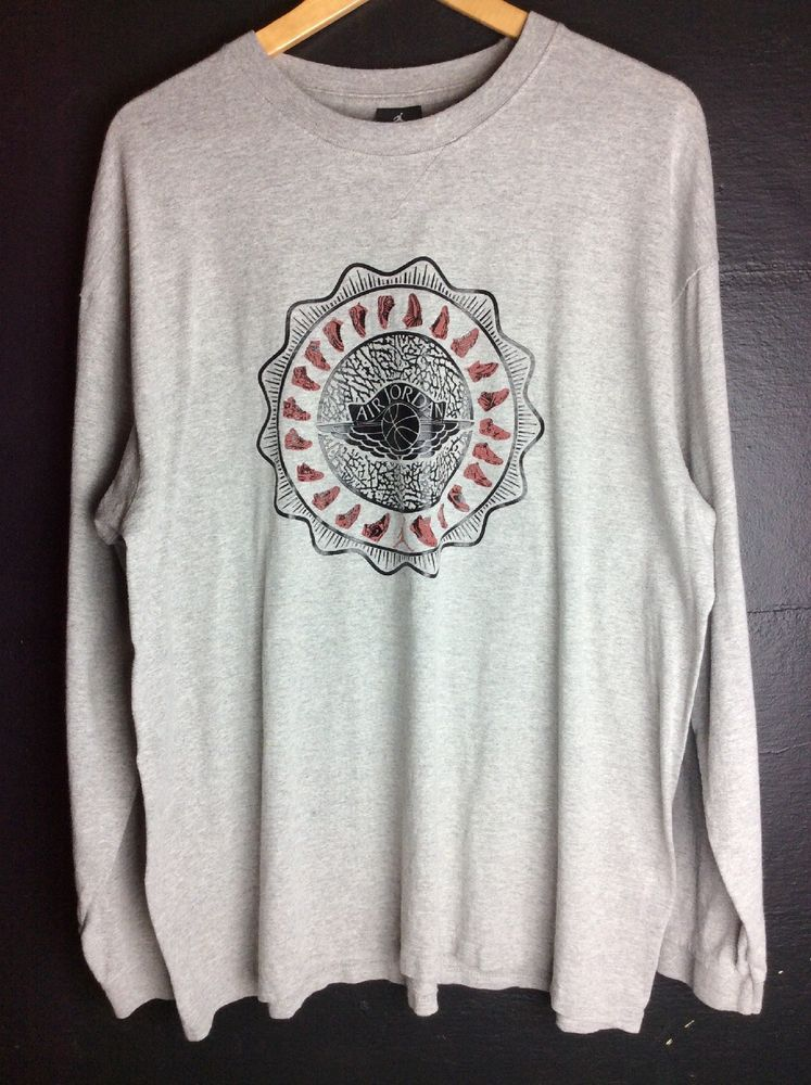 3be5479210 Air Jordan Long Sleeve Tee Grey XL  fashion  clothing  shoes  accessories   mensclothing  shirts (ebay link)