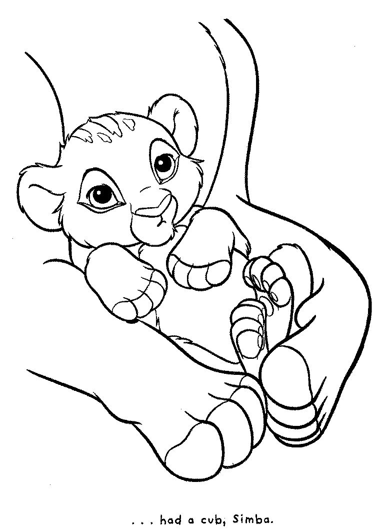 Baby Simba | Coloring pages | Pinterest