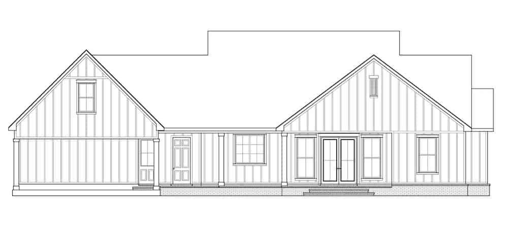 Farmhouse Style Home 3 Bedrms 2 5 Baths 2535 Sq Ft Plan 206 1007