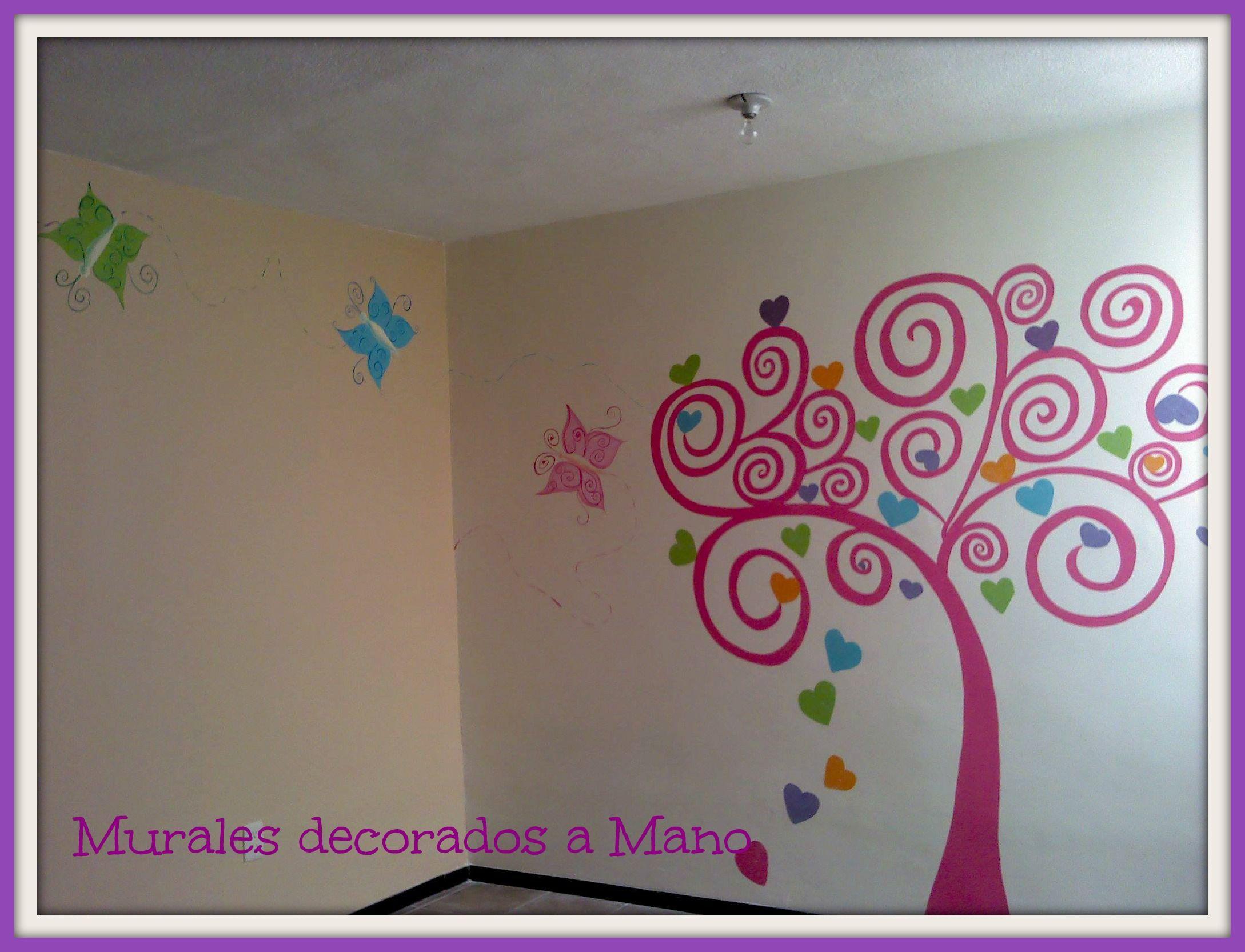 Murales decorativos pintados a mano bellos detalles que - Murales pintados a mano ...