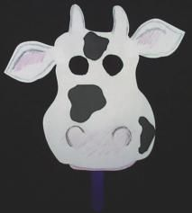 cow mask out of paper plate | papier bord dieremaskers | Cow