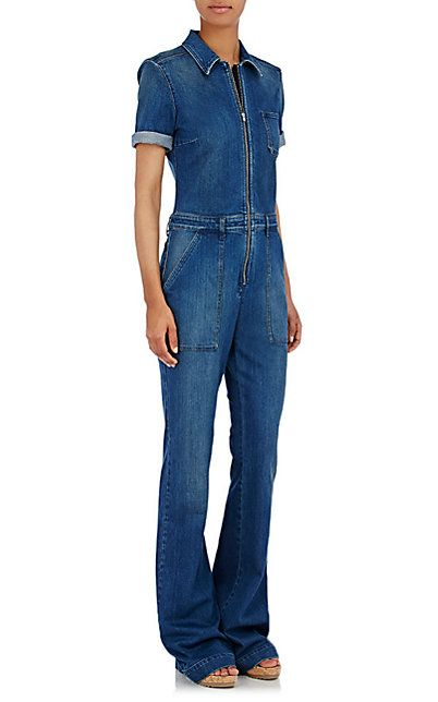 Stella McCartney Denim Wide-Leg Jumpsuit - Jumpsuits - Barneys.com