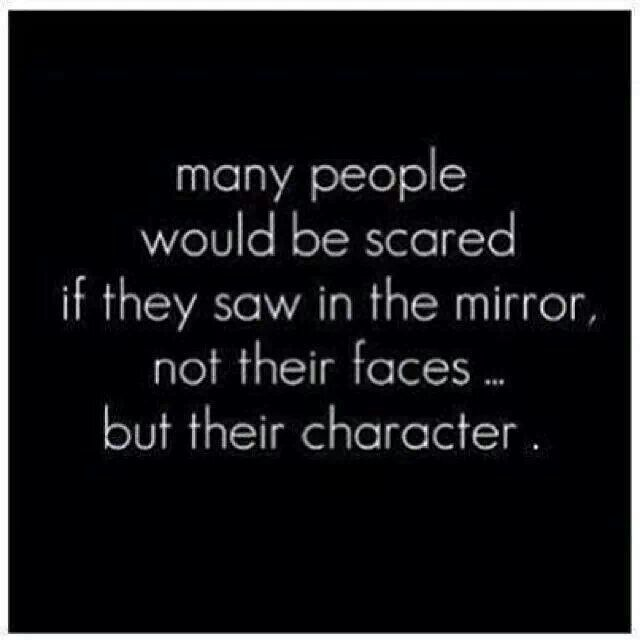 True...Ugly character reflects clearly....