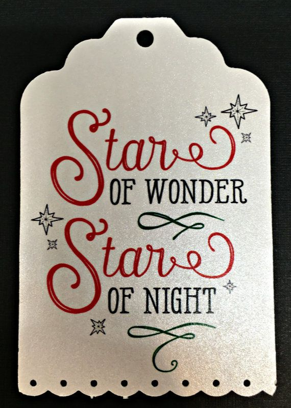 Christmas Gift Tags  Star Of Wonder  Set of 9 by PaperDollPrinting