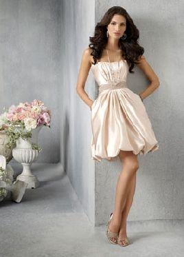 balloon hem wedding gown or cute idea for bridesmaids dresses ...