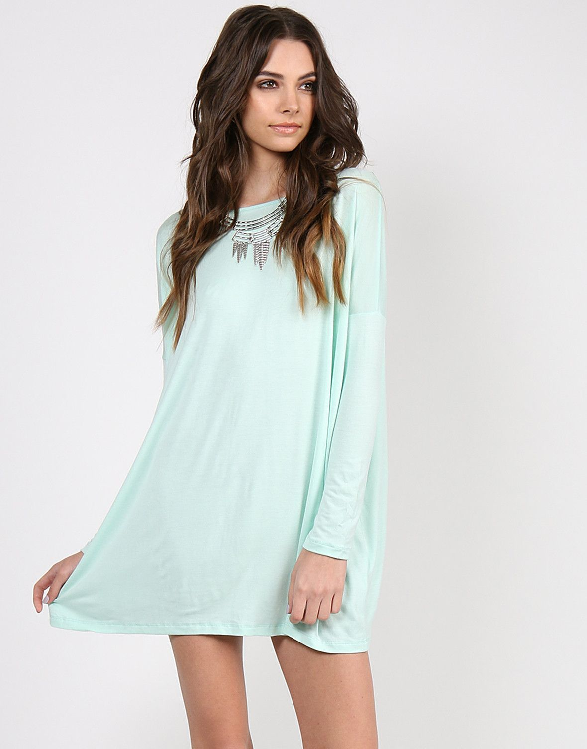 4b9ca7080 Long Sleeve Shirt Dress - Mint from 2020AVE #mint #shirtdress #longsleeve