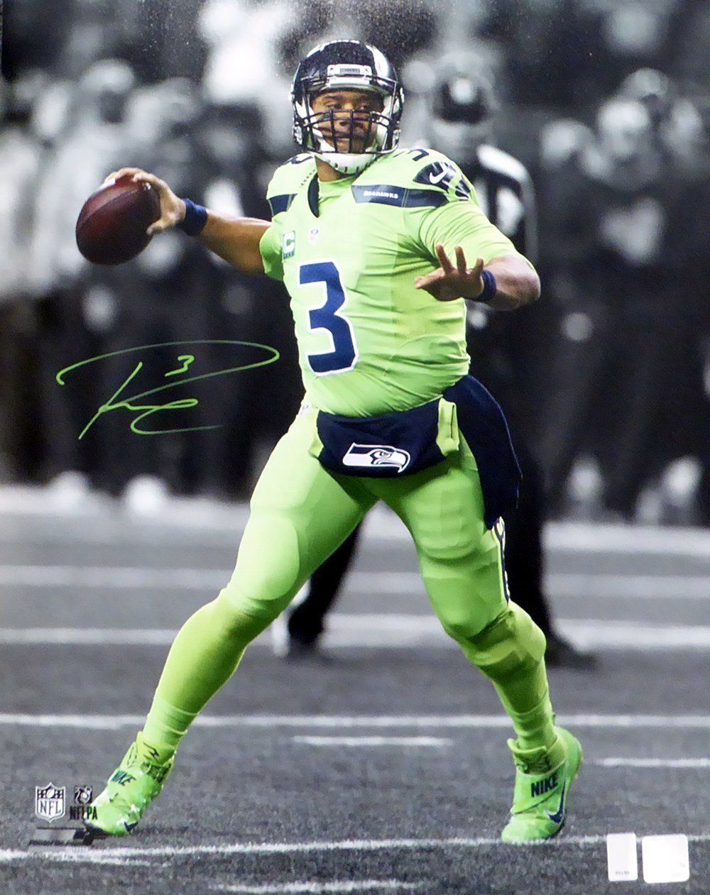 8b720bf0da5 Color Rush, Sport Football, Football Helmets, Green Colors, Russell Wilson,  Sports