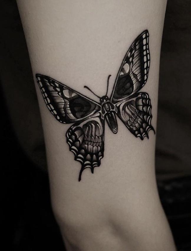 Photo of Skull butterly tattoo