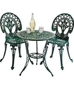Buy Argos Home Ascot 2 Seater Cast Aluminium Bistro Set Green