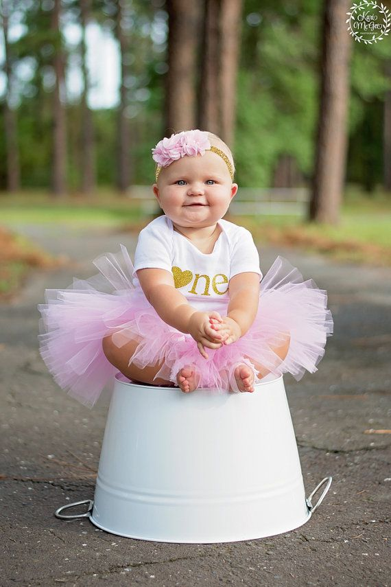 Baby Minnie Mouse Pink Gold 1st Birthday Outfit Bodysuit Tutu Etsy