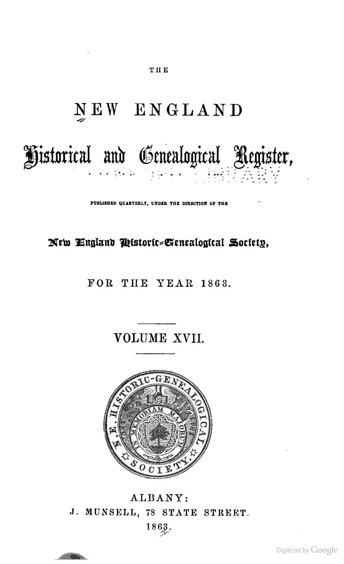 The New England Historical and Genealogical Register - Google Books ... 0ca4f1040620