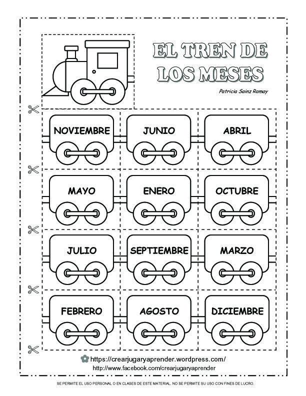 EL TREN DE LOS MESES DEL AÑO | ideas para actividades | Pinterest ...