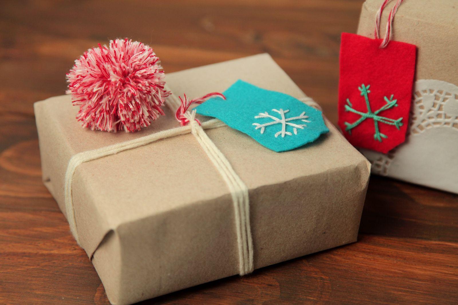 Tarjetas de Navidad para regalos