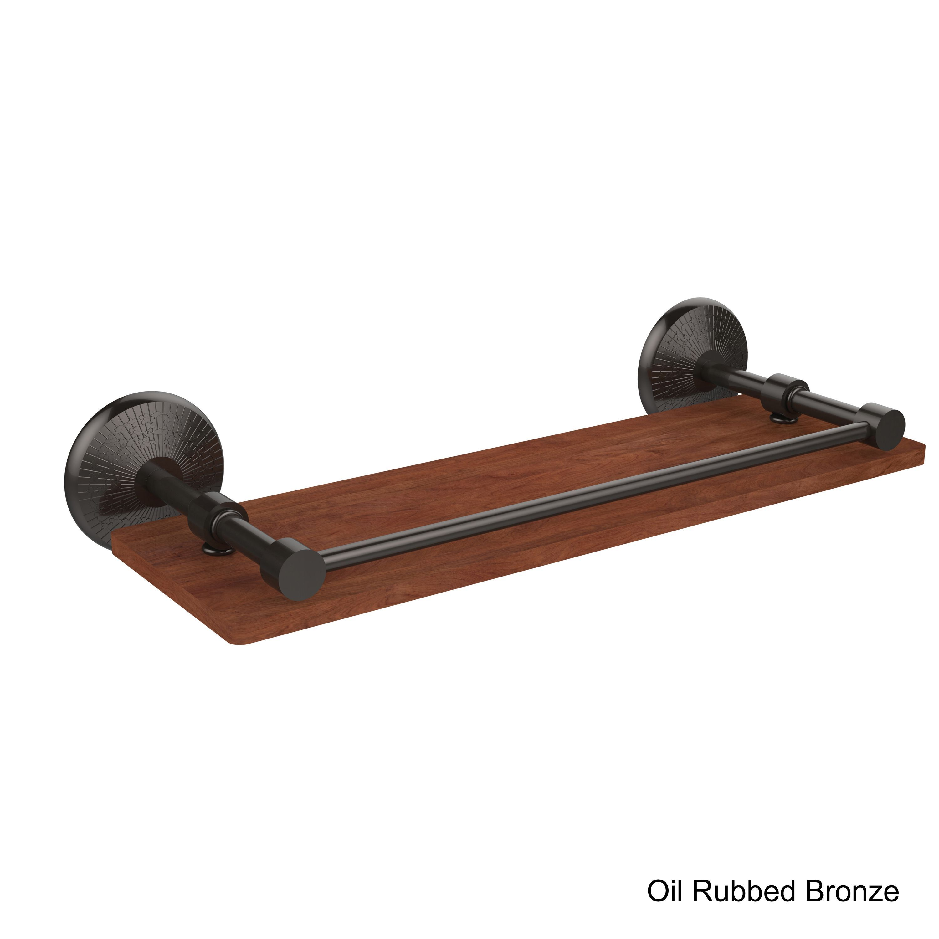 Allied Monte Carlo Collection 16-inch IPE Ironwood Shelf with Gallery Rail
