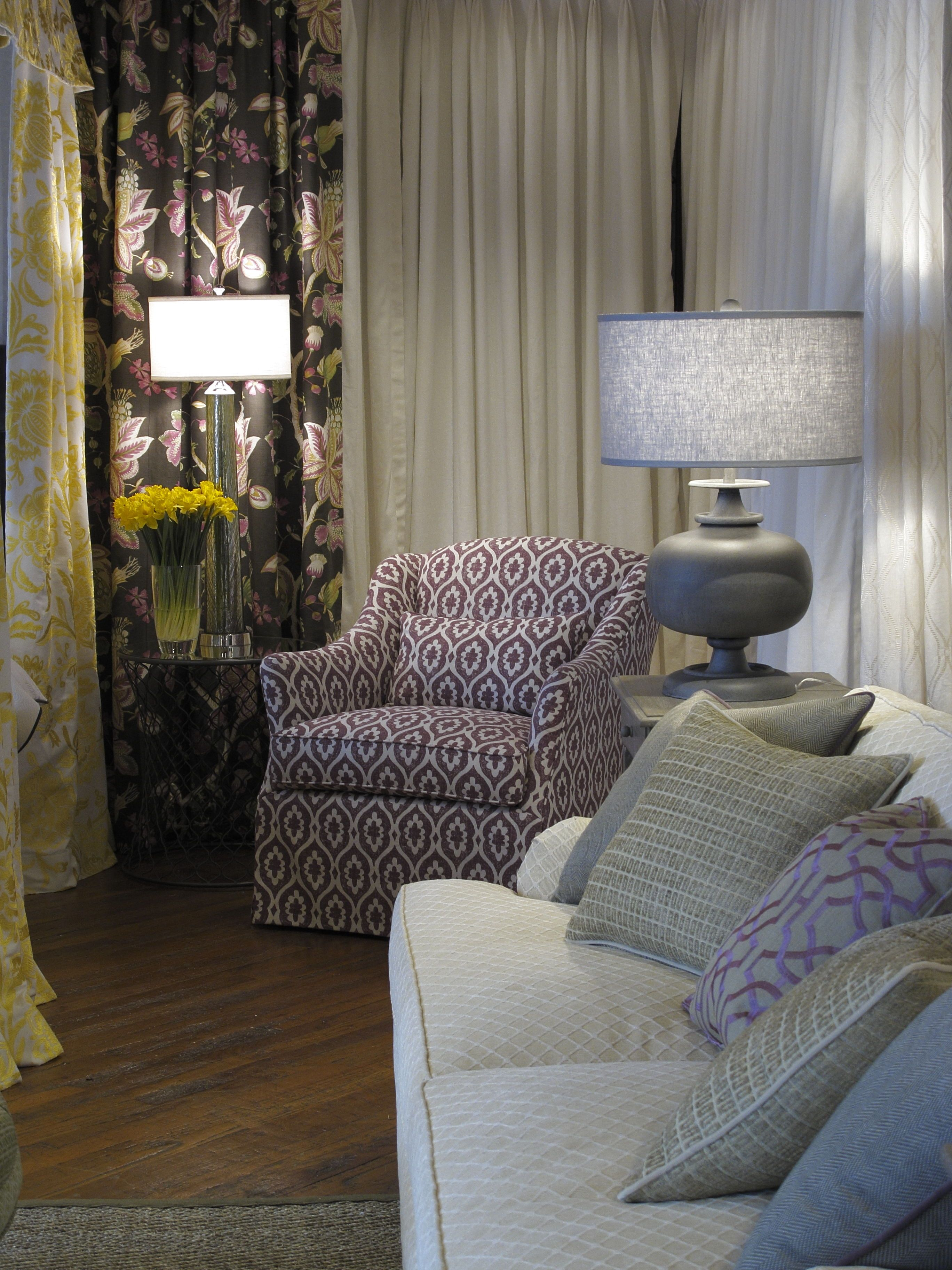 Thibaut Fine Furniture Showroom In High Point, Located At Historic Market  Square. Seen Here: Sutton Chair In Lucas In Plum; Maxwell Sofa In Nadia  Trellis In ...