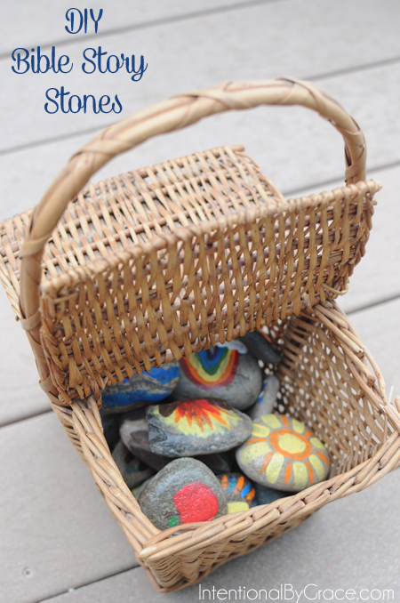 How to make Bible Story Stones for your toddler or preschooler.