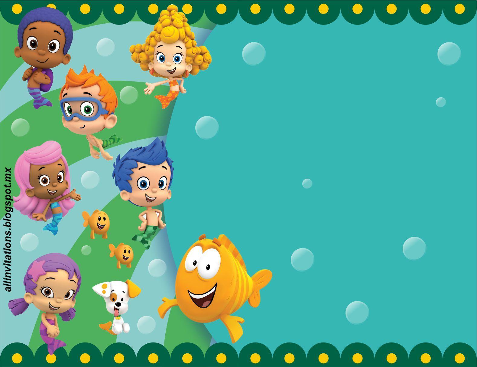 Plantillas Bubble Guppies | invitaciones | Pinterest | Bubble ...