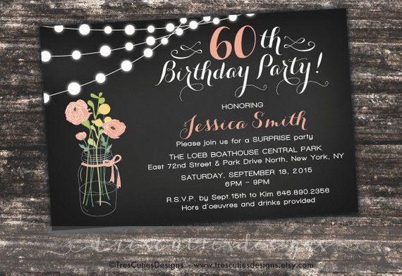 Surprise 60th Birthday Invites