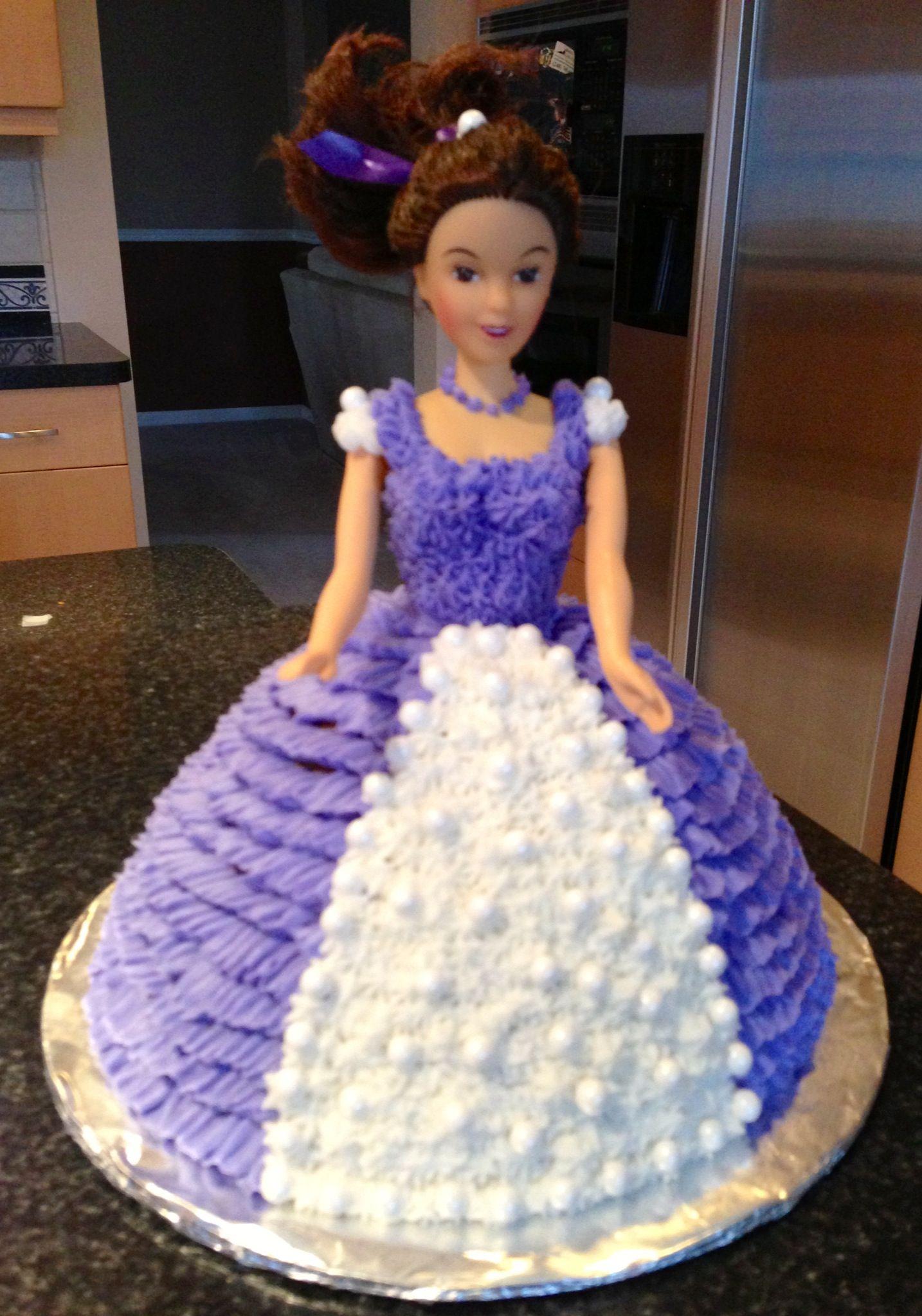 Doll cake doll cake butter cream disney princess