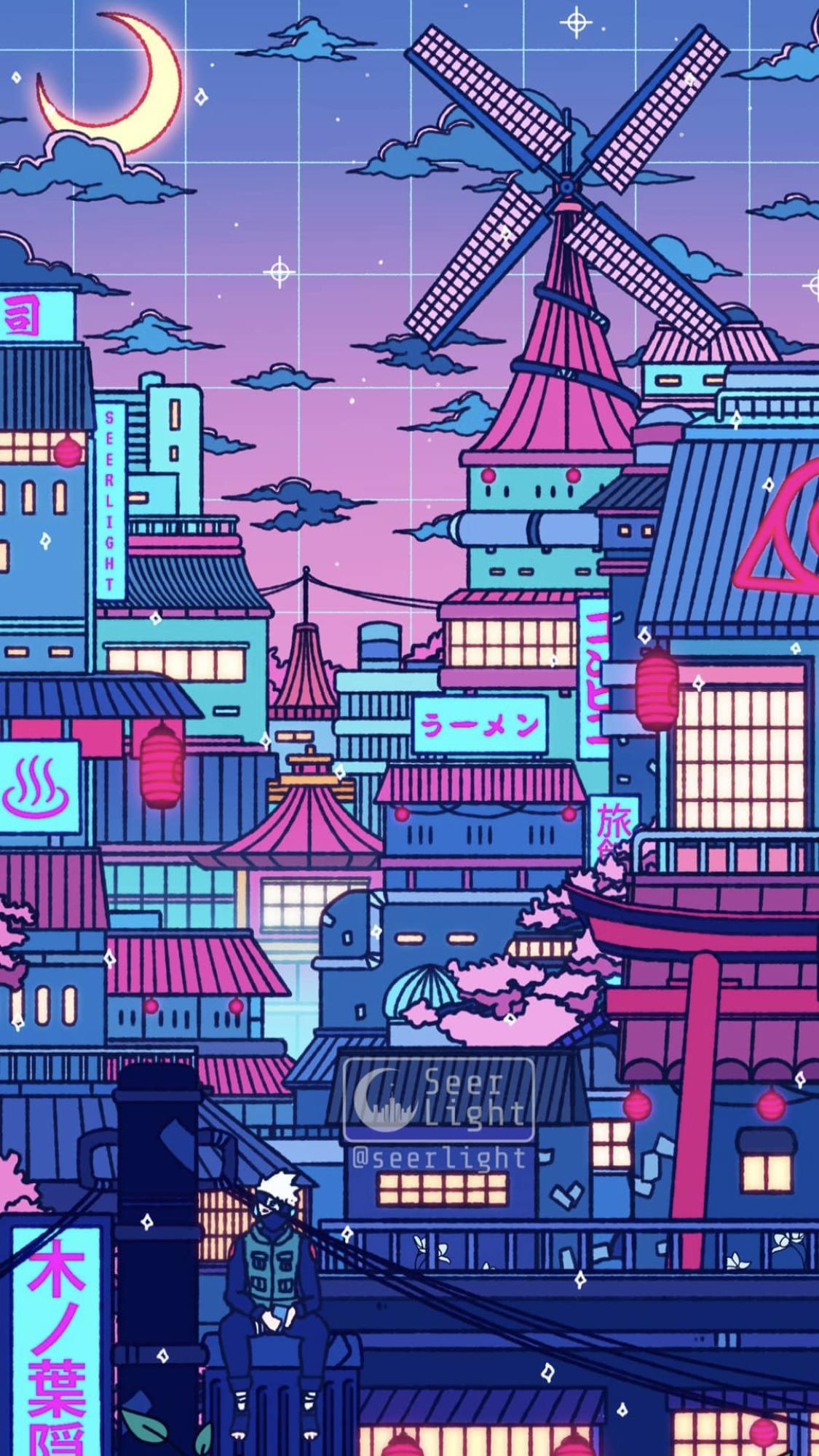 Naruto Vaporwave Wallpaper Anime Scenery Wallpaper Anime Wallpaper Iphone