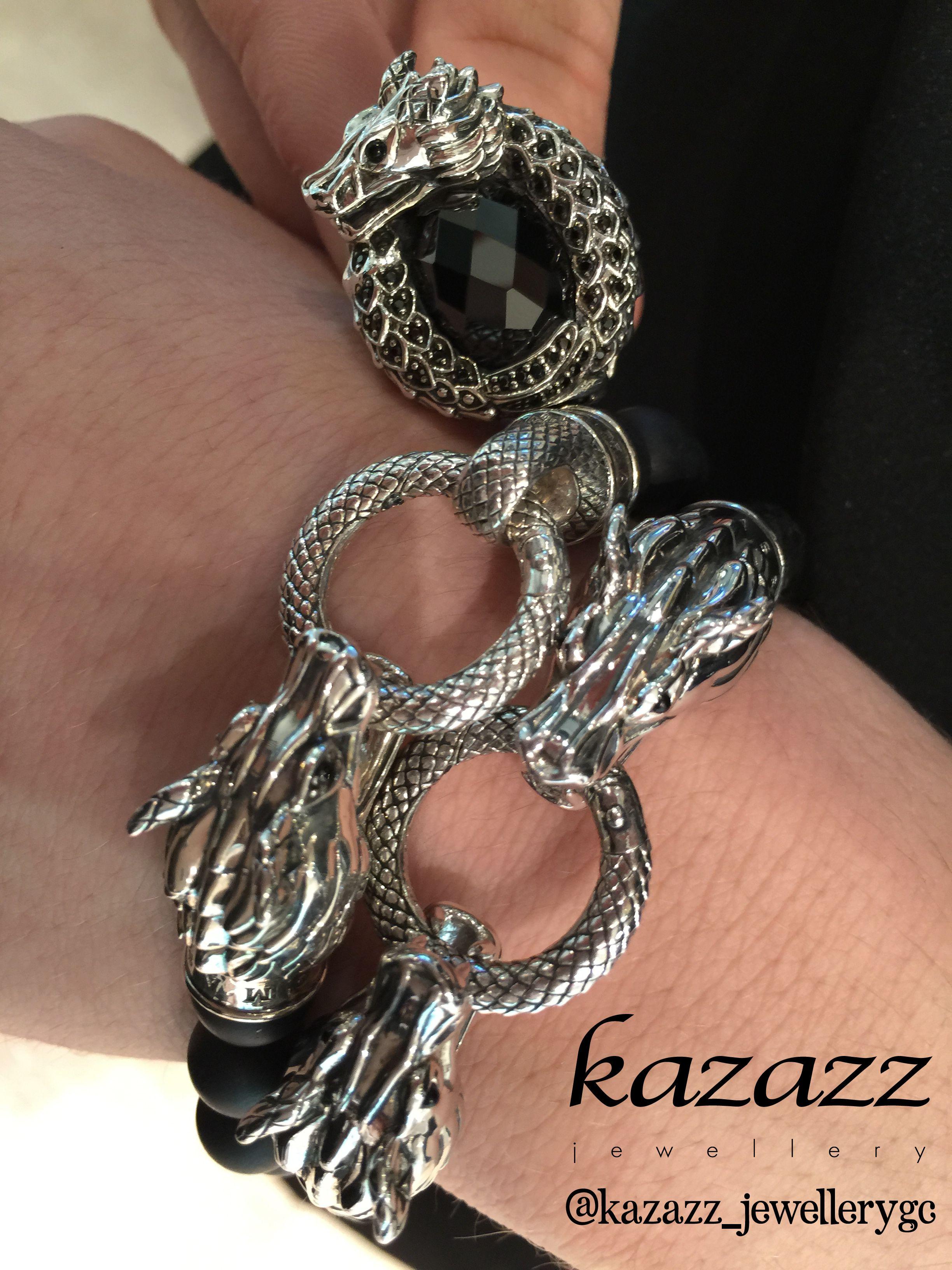 Thomas Sabo Dragon Bracelet & Ring In Store At Pacific Fair Kazazz  Jewellery #dragon