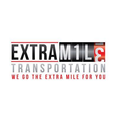 transportation logo design for extra mile transportation by