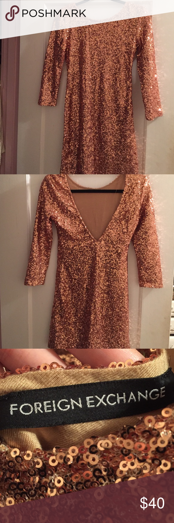 Sequin Mini Dress Perfect condition. Never worn. Perfect for a holiday party. Size S. Foreign Exchange Dresses Mini