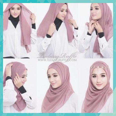 Gambar Tutorial Hijab Nissa Sabyan Segi Empat Tutorial Lif Co Id