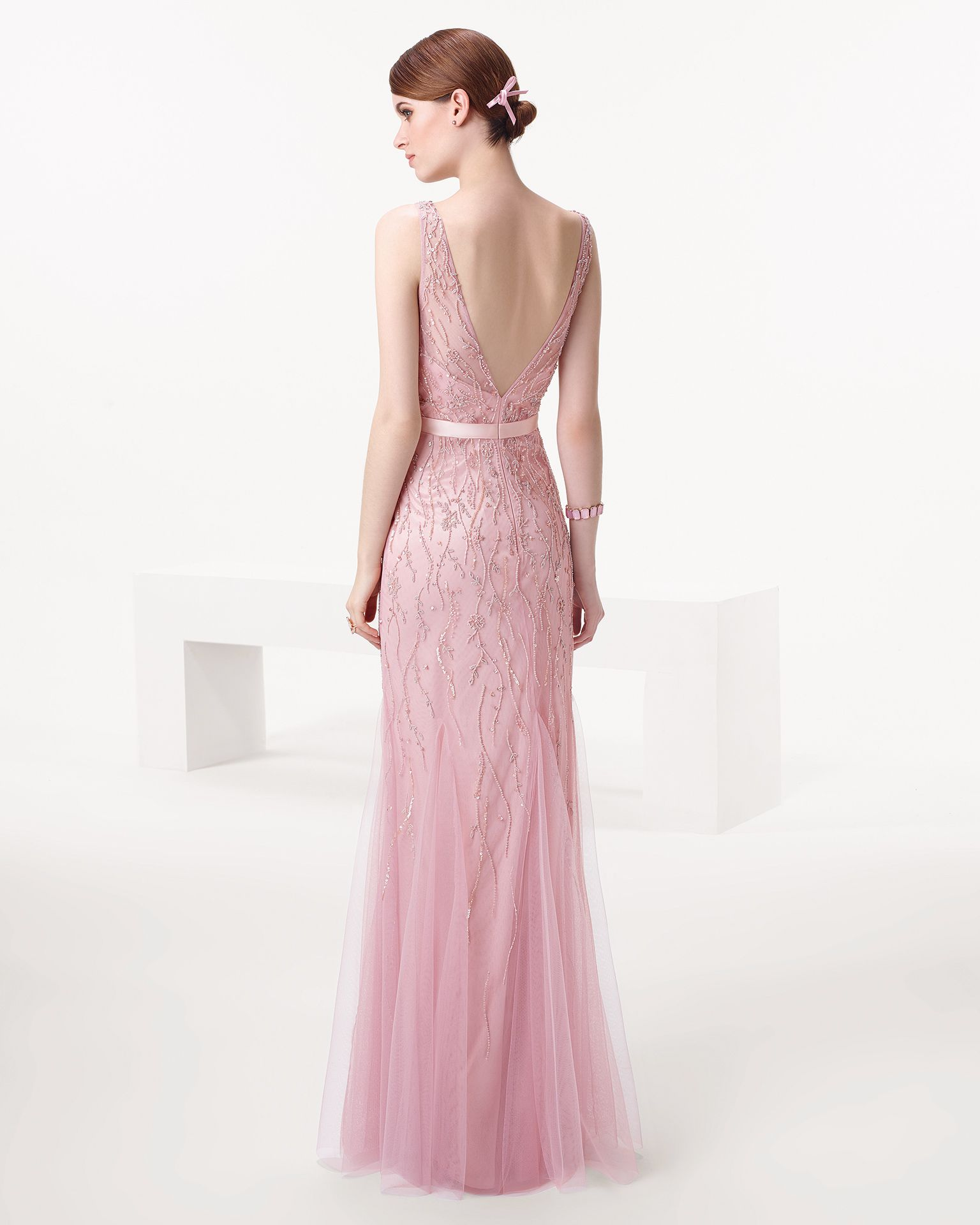 Vestido de fiesta color rosa palo | Party Dress | Pinterest | Color ...