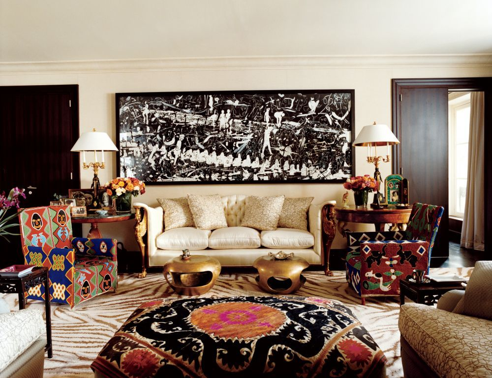 Exotic Living Room by Franois Catroux in Paris France Favorite