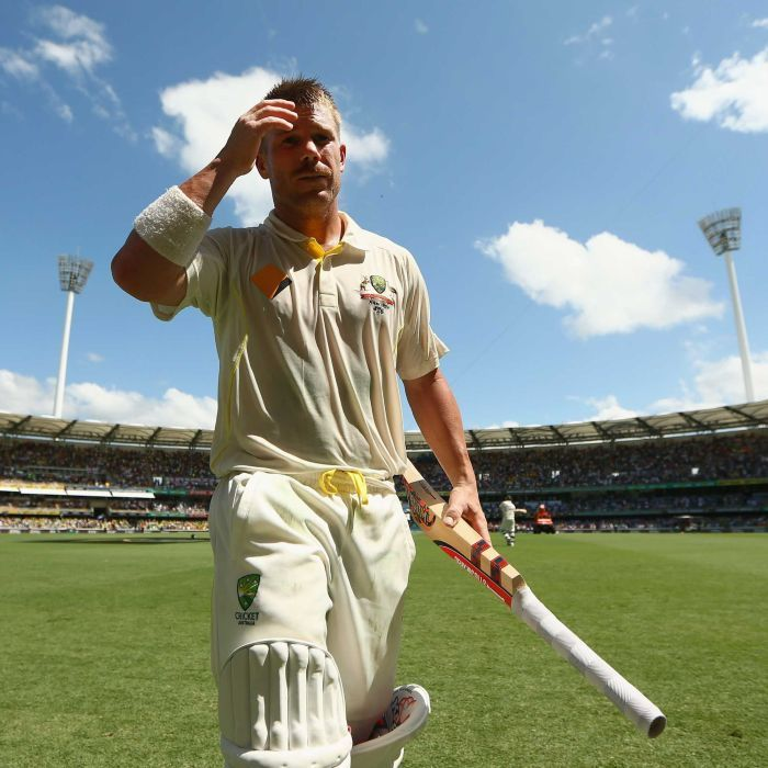 David Warner of Australia walks off the field after being dismissed by Stuart Broad of England during day three of the First Ashes Test match between Australia and England at The Gabba on November 23, 2013 in Brisbane, Australia. Getty: Cameron Spencer