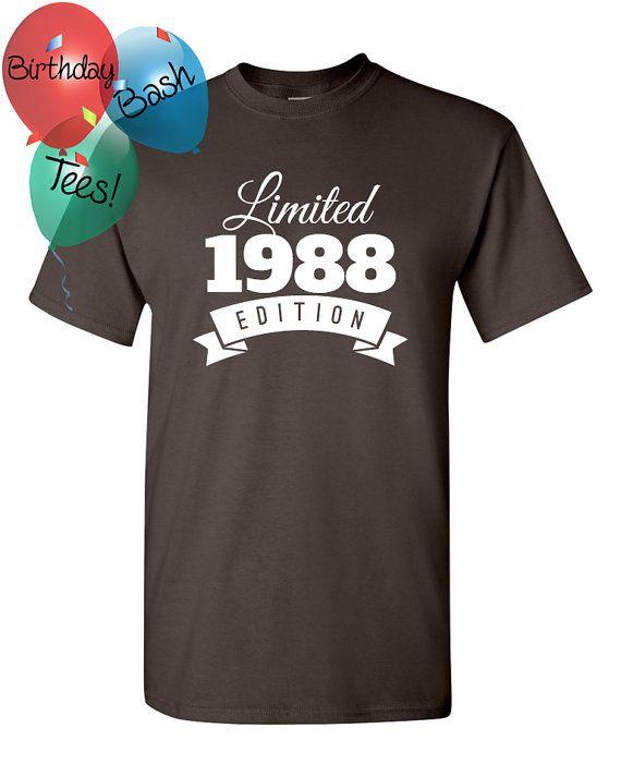 1988 Birthday Shirt 28 Limited Edition By BirthdayBashTees On Etsy