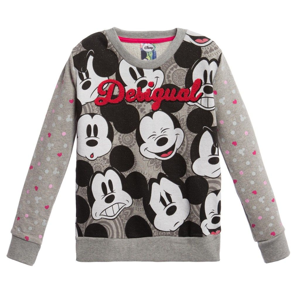 Grey Mickey Mouse Sweatshirt Mickey Mouse Sweatshirt Mickey Clothes Sweatshirts