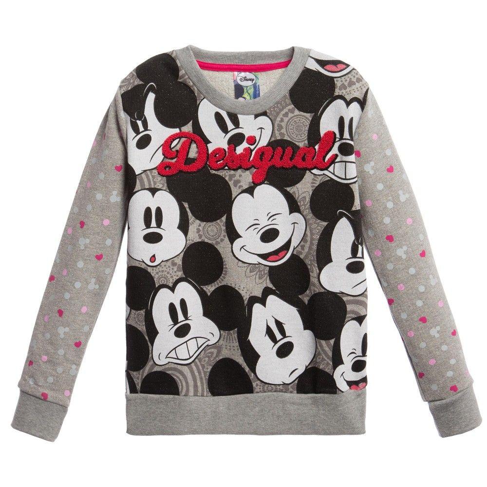 Grey Mickey Mouse Sweatshirt Mickey Mouse Sweatshirt Mickey Clothes Sweatshirts