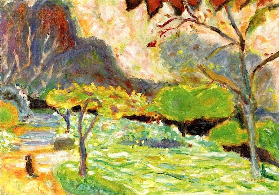 Landscape with Dog / Pierre Bonnard - circa 1923