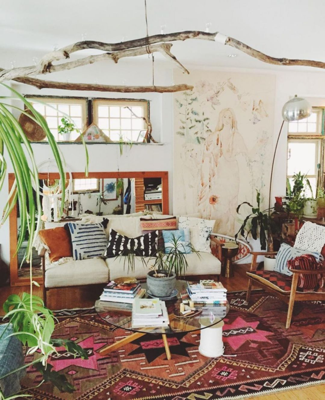 25 Chic Farmhouse Bohemian Living Room Decorations That Will Give You Warm And Cheerful Nuances Living Room Design Boho Bohemian Style Living Room Boho Living Room
