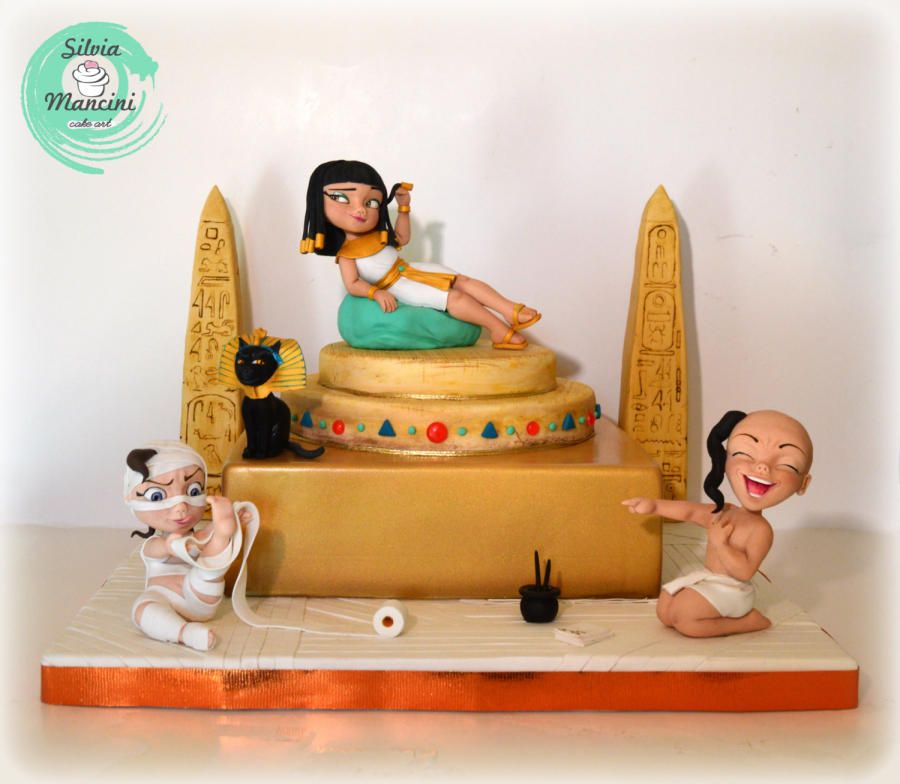 An Egyptian Party Cake By Silvia Mancini Cake Art Egyptian Cake