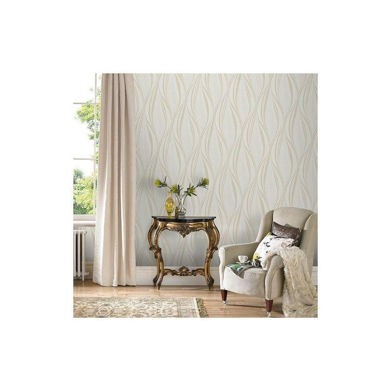 Find Graham & Brown Hwv Tango Ivory Wallpaper at Homebase