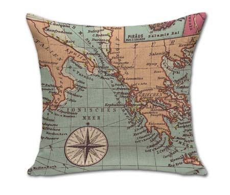 How To Wash Throw Pillows Without Removable Cover Square Vintage World Map Pillows Outdoor Cushion For Chairs Bedroom